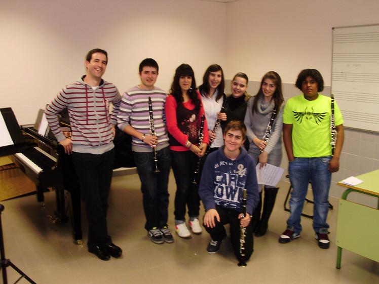 Clase de clarinete - Audición de aula