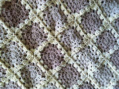 Closeup on the Blanket (katiecanavan) Tags: wool motif crochet blanket afghan grannysquare