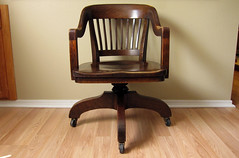 Antique Oak United States Post Office Chair (Sheep Chase Vintage) Tags: oak chair antique postoffice usps