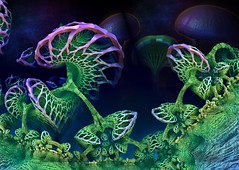 Fractal Coral & Fungi (Mulewings~) Tags: abstract art colors graphicart 3d fractals fractalicious mandelbulb3d
