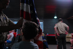 Starting the flag ceremony (radargeek) Tags: cubscouts bsa kidcam