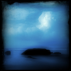 Blue Hour (Jasmina Kimova Photography) Tags: ocean blue night bluehour conceptual