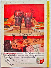 Defaced 1960s Vintage Coca Cola Advertisement From National Geographic Back Page 25 (Christian Montone) Tags: vintage ads advertising coke americana soda cocacola advertisements sodapop vintageads vintageadvert