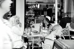 dr and nurses (BadMoodyNurse) Tags: street blackandwhite bw blackwhite brighton candid coffeeshop brightonfestival