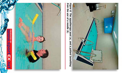 Figure 6: The aquatherapy pool (a), and a patient benefiting from the use of a noodle (b). (sportEX journals) Tags: rehabilitation sportex sportsinjury watertherapy aquatictherapy sportexdynamics sportsmassagemassagetherapy
