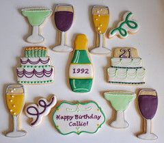 Turning 21 Custom Birthday Cookies!!