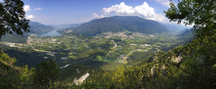 Panorama view towards Caldonazzo and Levico (AngeloMichel.nl) Tags: mountain walking is big nice very there summertime monte trentino levico caldonazzo also middleright panarotta