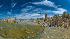 Mono Lake 260 (Fort Photo) Tags: california ca travel summer panorama lake nature water landscape mono nikon pano geology monolake cinematic 169 tufa formations 260 tufatowers d700 microsoftice