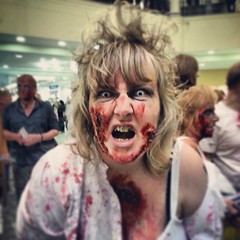 A scary shopping night at #Meadowhall in #Sheffield with a zombie run. (Paul Simpson Photography) Tags: woman monster shopping square dead death scary blood zombie decay sheffield makeup freaky freak squareformat beast aged flashmob afterlife meadowhall studentnight livingdead scaryeyes freakyeyes sexyeyes zombiewalk photosof imageof scarylady bloodstains photoof imagesof sheffieldnightlife meadowhallcentre september2013 paulsimpsonphotography instagram instagramapp uploaded:by=instagram samsunggalaxys3 sheffieldfun sheffieldnights whattodoinsheffield ladywithcurlyhair bloodstainedclothing funinmeadowhal