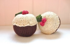 Xmas Puds (gingergooseberry) Tags: christmas home knitting decoration 2013 ravelry