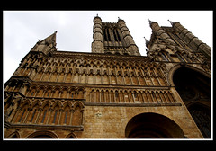 Vertical Lincoln (little_frank) Tags: old uk england sculpture brown building tower art heritage history geometric church monument beautiful beauty lines vertical architecture facade skyscraper wonderful wonder ancient cathedral artistic unitedkingdom britain geometry details religion gothic decoration landmark medieval structure symmetry historic belltower christian lincoln huge historical marco british column geometrical christianity marvel upright pillars past majestic middleages impressive perfection imposing attraction masterpiece admiring middleearth majesty towering eternal monumental verticality elegance edifice ruby3 franchino supershot littlefrank abigfave flickrdiamond imponence marcofranchino vision:text=089