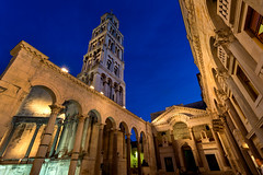 Diocletian's Palace (Rob Kroenert) Tags: old city blue tower dawn town ruins europe bell roman croatia before palace hour diocletian split diocletians