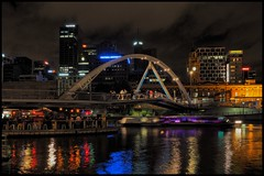 TA260293 - Flinders Street Station from Southbank (Derek Midgley) Tags: from street people test water station river shot image melbourne blurred olympus southbank handheld yarra 16 barge trial flinders seconds em1 stabilisation fiveaxis 1240mmf28prolens