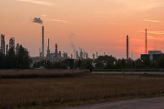 Sonnenaufgang über Leuna (planetvielfalt) Tags: deutschland sachsenanhalt leuna