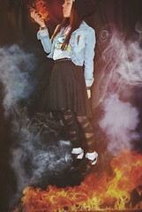 (a handful of air) Tags: me girl photoshop dark fire fly lucy power smoke magic grunge acid flight hipster floating super lsd hero superhero mysterious powers float creepers edit