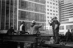 (AlanDejecacion) Tags: sanfrancisco california usa film workers construction downtown rangefinder highrise filmcamera leicam6 ironworkers expiredtrix summicron5020