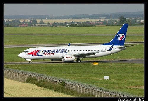 Boeing B737-8Q8_C-FTAH_Travel Service_Airport Prague Ruzyně_Czech Republic