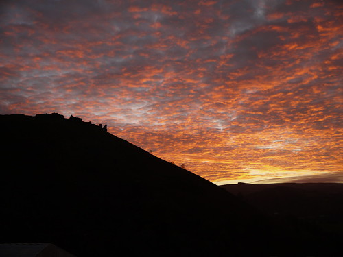 Sunset over Castell Dinas Bran