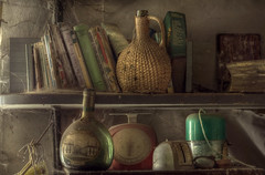 Mastering the Art ( explore ) (andre govia.) Tags: new art abandoned cooking window dead book spider bottle amazing closed wine decay ghost down books creepy explore ghosts dust derelict decayed decaying webb mastering vino abondoned decayedbuildings andregovia