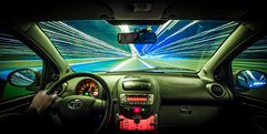 Warp (80D-Ray) Tags: car speed lights drive highway trails