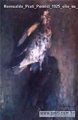 Romualdo Prati Pernici 1925 olio su tavola 36x24cm Collezione privata