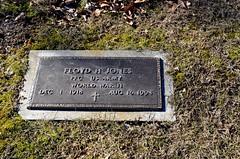 Floyd H Jones (Adventurer Dustin Holmes) Tags: cemeteries cemetery grave graves veteran veterans gravemarkers gravemarker wwiiveteran worldwariiveteran vision:text=0698 vision:outdoor=0907 vision:sky=0598 newhomecemetery floydhjones