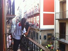 San Fermin Balcón Encierro Estafeta Medio 05 (Destino Navarra) Tags: pamplona navarra sanfermin encierro estafeta balcón