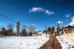 My Overview (jrseikaly) Tags: road blue trees sky lebanon orange cloud white snow tree yellow clouds rural jack amigo high dynamic chalet range arz hdr cedars seikaly arzz jrseikaly vision:mountain=0715 vision:outdoor=099 vision:sky=0976 vision:ocean=0523 vision:clouds=0878