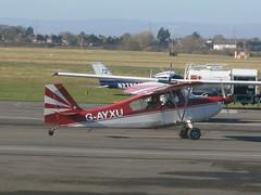G-AYXU Champion 7KCAB (Aircaft @ Gloucestershire Airport By James) Tags: james airport champion gloucestershire lloyds egbj gayxu