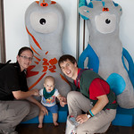 The three of us with Wenlock & Mandeville