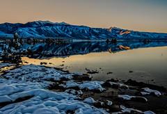Last light Mono Lake (stephencurtin) Tags: california light usa lake mountains fall water night last mono darkness sierra tufa thechallengefactory