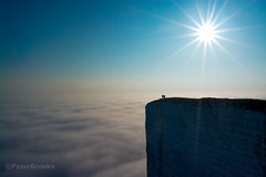 On Top Of The World (PeterBrooksPhotography) Tags: sun mist fog downs sussex nikon head south eastbourne beachy beachyhead