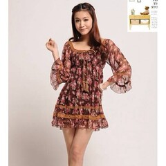 ชุดแซก แฟชั่นเกาหลี เดรสสวยผ้าชีฟองลายดอกไม้ตัวหลวม นำเข้า ฟรีไซส์ - พร้อมส่งTX010 ราคา850บาท รหัสสินค้า : TX010  ไซส์ : อก 100 เอว 80-100 สะโพก 80-100 ยาว 75 ซม.  วัสดุ : Chiffon Blended  สี : ตามรูป โทรสั่งของกับ พี่โน๊ต/พี่เจี๊ยบ : 083-1797221, 086-332