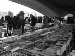 Books for sale, South Bank, London (Winniepix) Tags: blackandwhite london day market outdoor books southbank