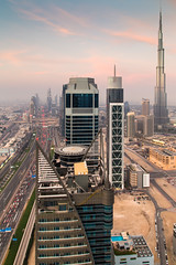 Downtown Dubai (Jesse4870) Tags: road roof tower architecture skyscraper marina marriott bay office spring downtown dubai apartment desert united uae business emirates zayed khalifa arab sheikh topping burj supertall cayan