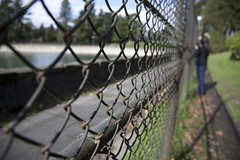Don't fence me in... (Getting Better Shots) Tags: seattle park fence reservoir volunteerpark capitolhill