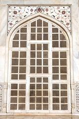 Taj Mahal, Marble Screen. (Heaven`s Gate (John)) Tags: door travel sunlight india white detail art texture architecture pattern taj mahal agra screen marble johndalkin heavensgatejohn