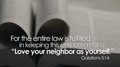 SLIDE 5 (Parkviewcc) Tags: love heart bible law neighbor command 514 entire keeping fulfilled galatians