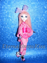 Pink Love ( eternal-snow ) Tags: ca monster de high doll dolls sewing nile yukata kimono cupid cleo mh tutorial