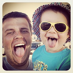 Like father, like son  #Leon #smile #cheese #babiators #likefatherlikeson (bajus) Tags: smile cheese square leon squareformat likefatherlikeson bajus earlybird jzyk umiech iphoneography instagramapp babiators