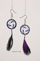 Earrings dreamcatchers (Shurik_Viola) Tags: light black nature silver beads noir purple handmade arts feathers feather earring violet jewelry bijoux ring jewellery creation handcrafted earrings boho t ethnic artisans handwork artisan americanindian dreamcatcher plumes anneau objets plume artisanat cration ronde amerindian perles bouclesdoreille amrindien dreamcatchers argent bohme faitmain artisanale ethnique faitmaison attraperve attraperves attrapereve shurikviola