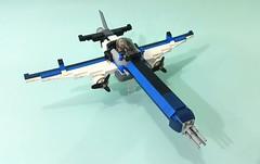 Raging Pelican v2.0 (Hendri Kamaluddin) Tags: sky plane war lego aircarft fantasy airship airforce squadron moc fighterplane skyfi fantasyplane victorysquadron