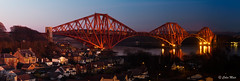 Forth Rail Bridge - Day to night - 2017-03-25 19-21-14 - DSC02794-HDR-Pano x2 (colin.mair) Tags: industar50 panorama hdr bracket serno6415508 50mm ussr russian manual m39 forth rail bridge day night north queensferry dunfermline scotland sony ilce6000 1964 lens