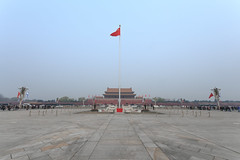 Tiananmen Square (virtualwayfarer) Tags: beijing china capital asia asian tiananmensquare tiananmen street streetphotography chinese soldier soldiers army square largesquare iconic travel tourism alexberger travelphotography canon canon6d spring march