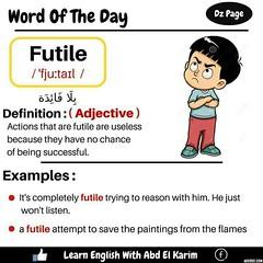 Captivating ... Word Of The Day   Futile ...