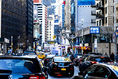 Ameritania (Joyce and Steve) Tags: newyork newyorkcity city cityscape broadway traffic trafficjam