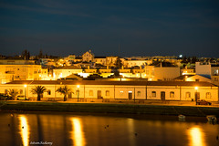 Downtown Tavira (Istvan SZEKANY) Tags: bench city continentsetpays discovery downtown europa europe history prt pt portugal reflection reflets riogilao sonya7s sonyalpha7s szekany tavira town travel trip water algarve