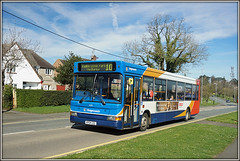 34591, Ashby Road (Jason 87030) Tags: stagecoach dennis dart vehicle bus transportation publictransport blue white red orange ashbyroad daventry northants northamptonshire march 2017 sony a6000 ilce alpha nex lens tag flickr 10 cotonpark roadside shot camera kp04gzl 34591
