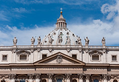 St. Peter's Basilica (www.chriskench.photography) Tags: rome roma italy italia travel europe architecture history statues dome duomo nikon d90 kenchie wwwchriskenchphotography sanpietro vatican