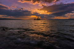 sunset 6274 (junjiaoyama) Tags: japan sunset sky light sun cloud weather landscape purple contrast colour bright lake island water nature winter